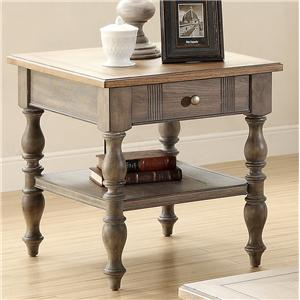 Drawer End Table with 1 Shelf