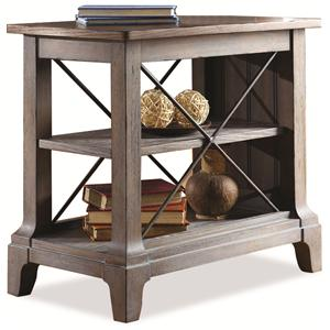 """Riverside Furniture Windhaven """"X"""" Chairside Table"""