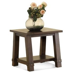 Riverside Furniture Windridge  ANGLE-LEG END TABLE