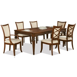 Riverside Furniture Windward Bay 7 Piece Table and Chair Set