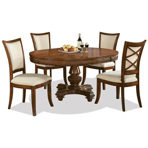 Riverside Furniture Windward Bay 5 Piece Table and Chair Set