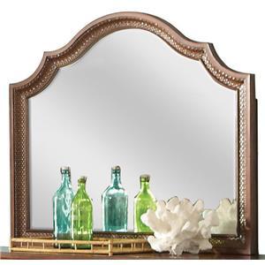 Arch Landscape Mirror w/ Rattan