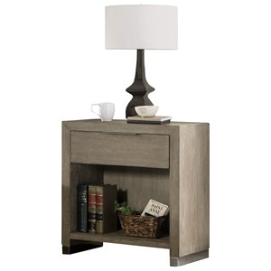 Transitional Nightstand with USB Charging Port