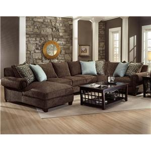 Robert Michael Rocky Mountain Chaise And Sofa Sectional