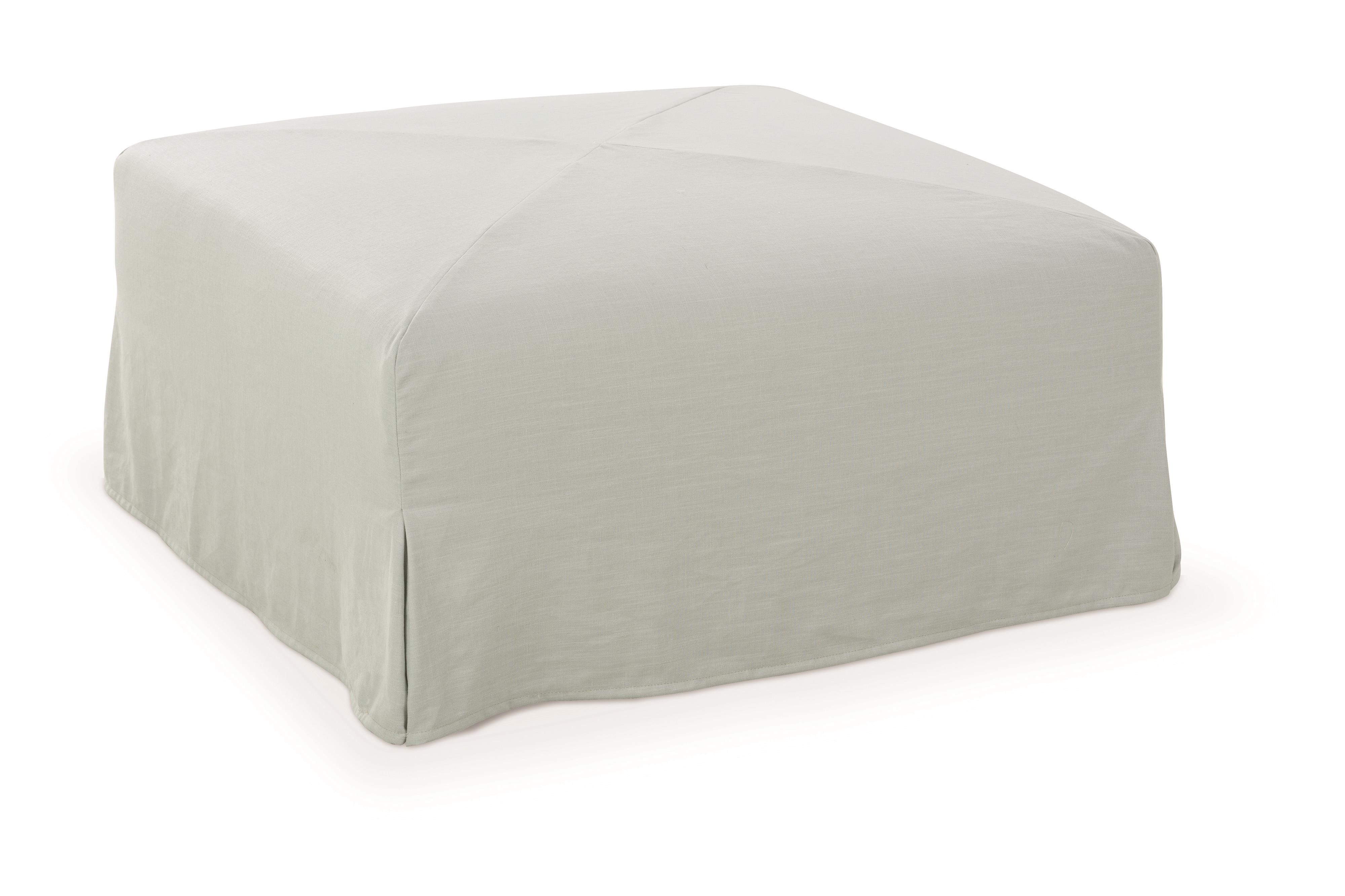 Accent Ottomans Miles Slipcover Ottoman by Robin Bruce at Rooms and Rest