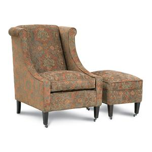 Robin Bruce Alexa Upholstered Chair and Ottoman