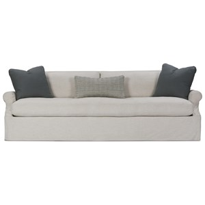 Contemporary 85'' Sofa with Slip Cover and Bench Cushion