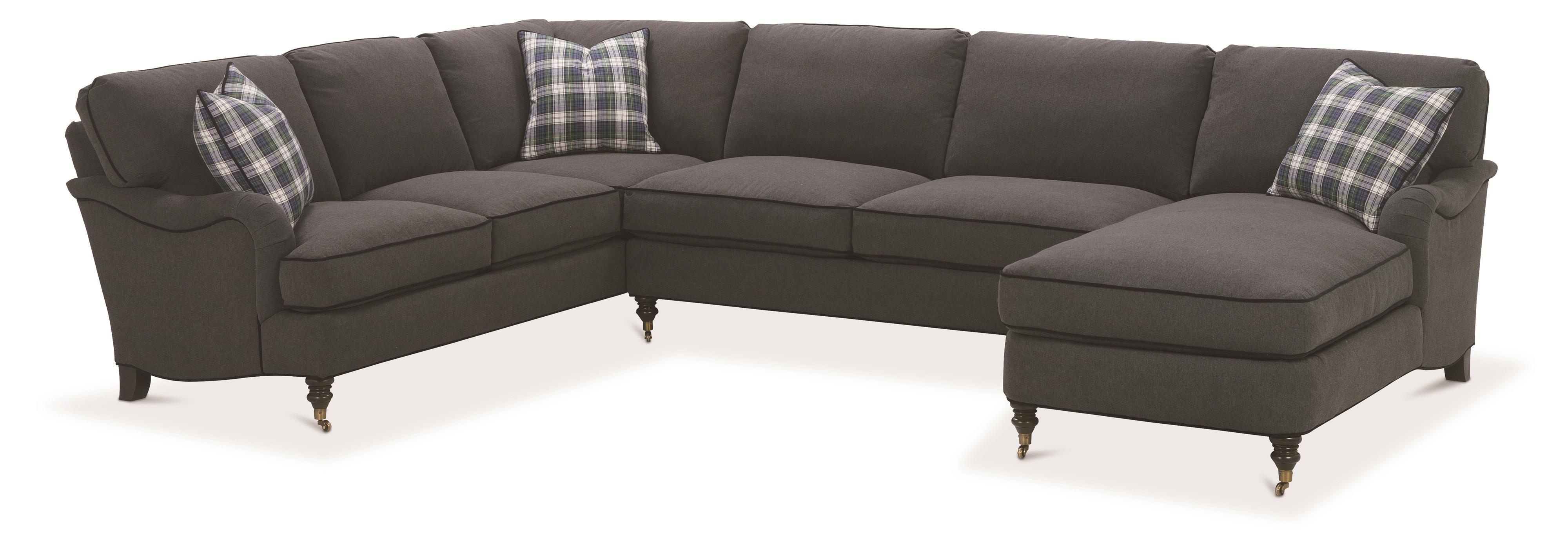 Brooke Sectional Sofa with Castered Turned by Robin Bruce at Steger's Furniture