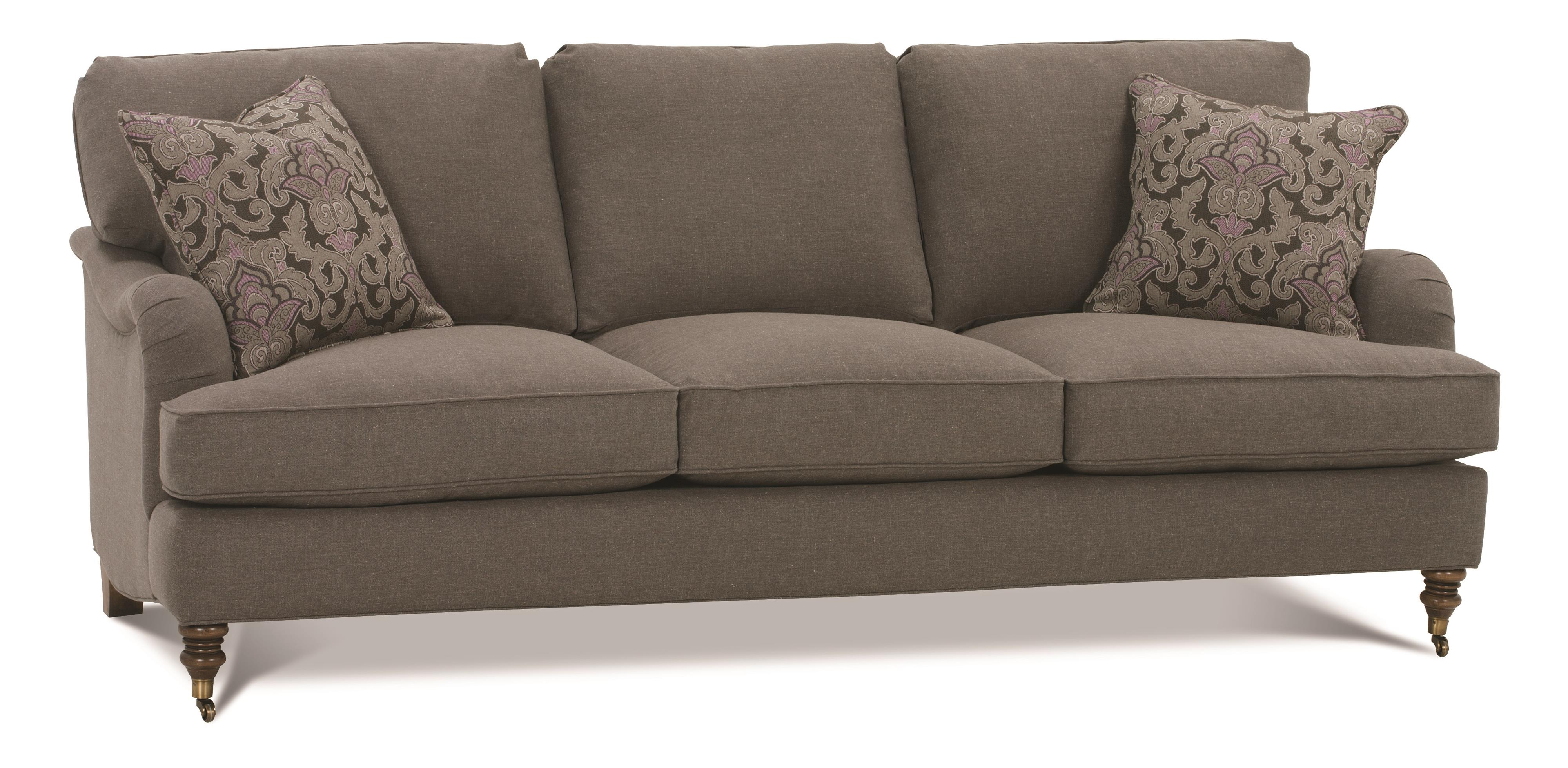 Brooke 3-Cushion Sofa with Castered Turned Feet by Robin Bruce at Saugerties Furniture Mart