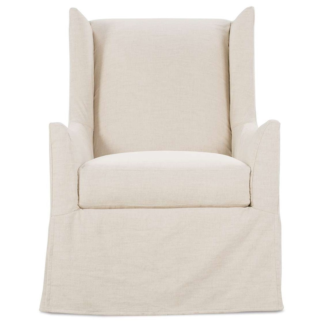 Ellory Slipcovered Swivel Chair by Robin Bruce at Steger's Furniture