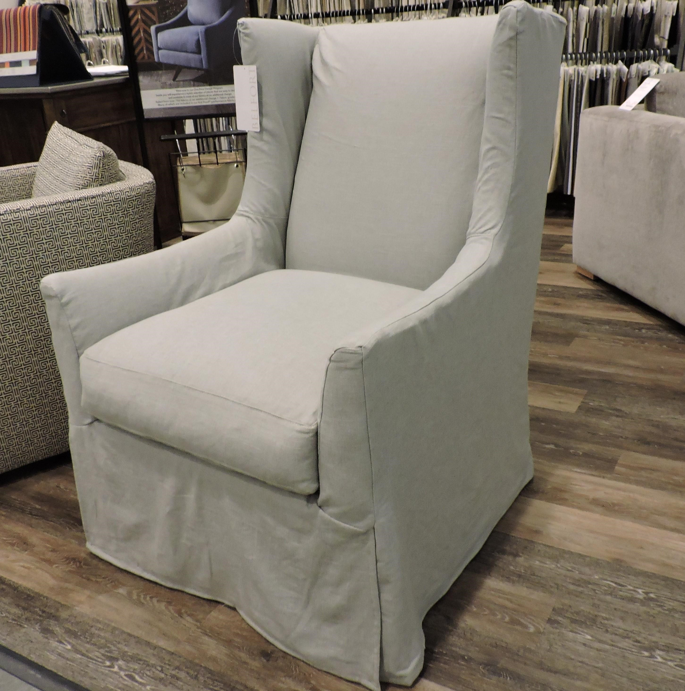 Ellory Slipcovered Swivel Chair by Robin Bruce at Belfort Furniture