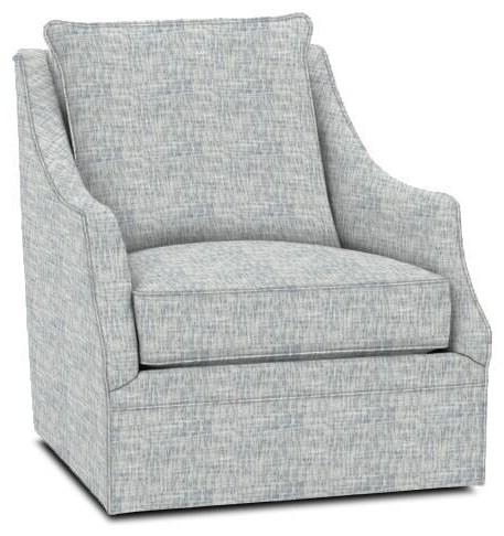 Kara Swivel Chair by Rowe at Crowley Furniture & Mattress