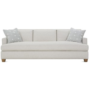"Transitional 92"" Sofa with Bench Seat"