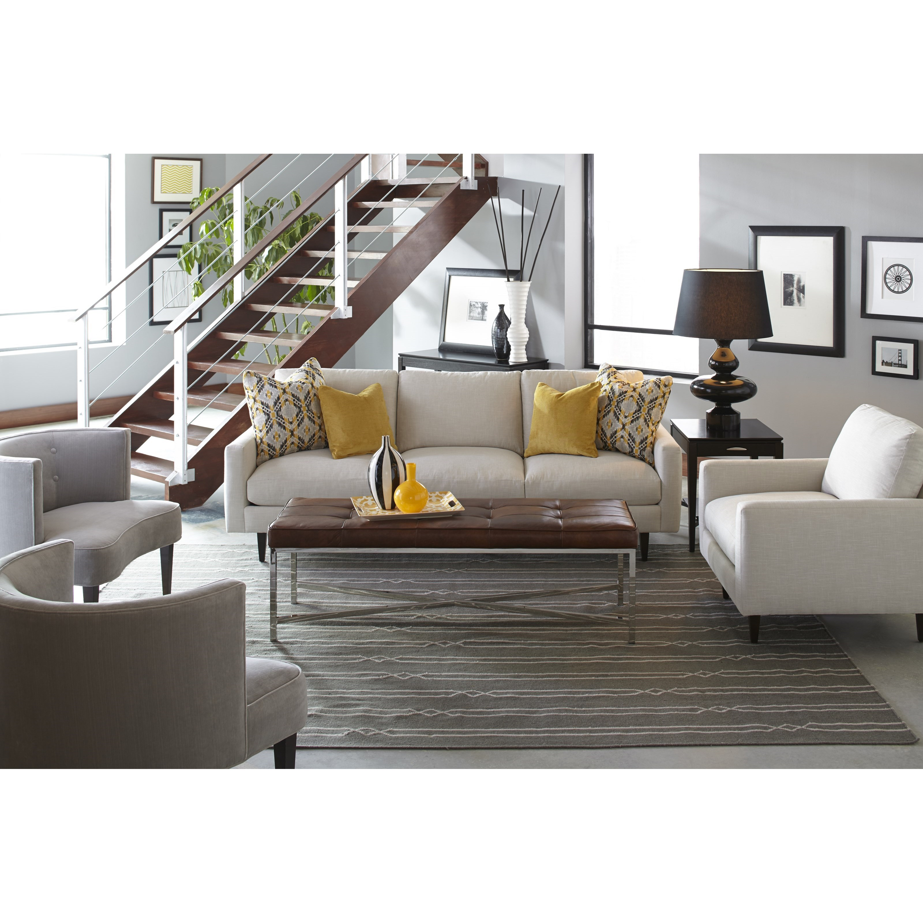 Oslo Stationary Living Room Group by Robin Bruce at Malouf Furniture Co.