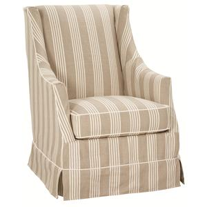 Robin Bruce Accent Chairs Hayward Slipcovered Skirted Chair