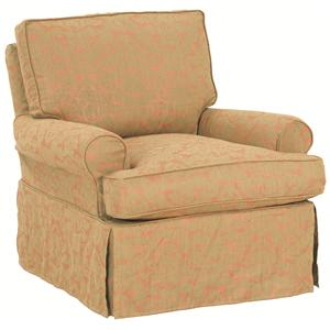 Robin Bruce Accent Chairs Luci Slipcover Swivel Glider