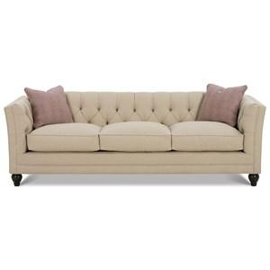 Tuxedo Styled Sofa with Deep Tufted Cushion Back