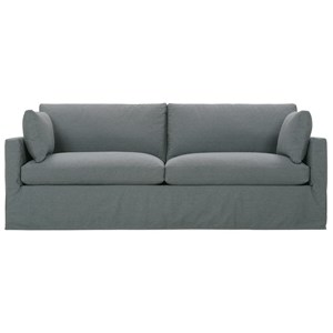Customizable Two Cushion Sofa with Slip Cover