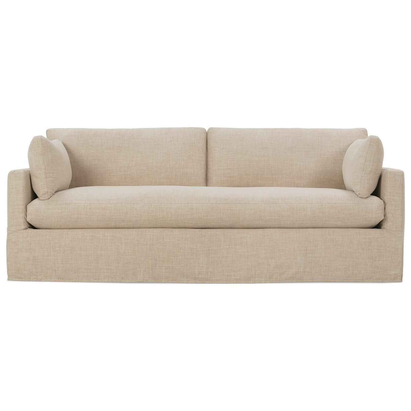 Sylvie Slip Covered Sofa by Robin Bruce at Saugerties Furniture Mart
