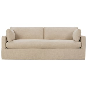 Customizable Sofa with Bench Seat and Slip Cover