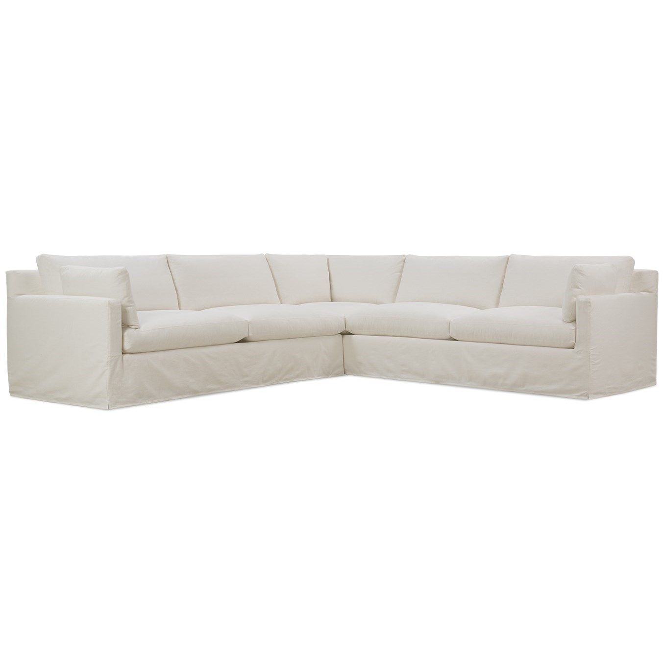 Sylvie Slip Covered Sectional by Robin Bruce at Steger's Furniture
