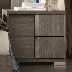 Contemporary Weathered Grey Right Arm Facing Nighstand