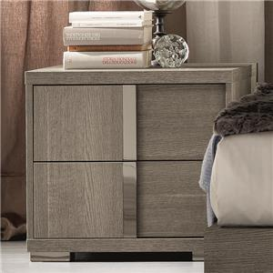 Contemporary Weathered Grey Left Arm Facing Nightstand