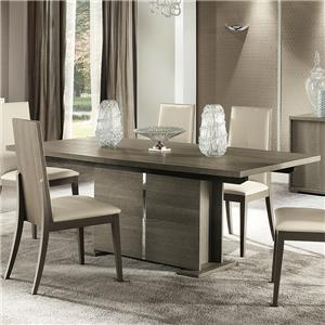 "Contemporary Weathered Grey 63"" Dining Table with Extension Leaf"