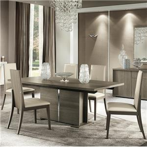 Seven Piece Weathered Grey Dining Set