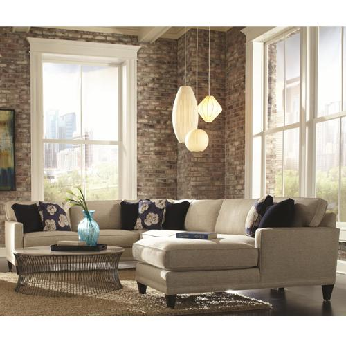 Townsend Three Piece Sectional Sofa Group by Rowe at Belfort Furniture