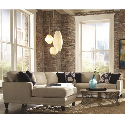 Townsend Sofa Sectional Group by Rowe at Belfort Furniture