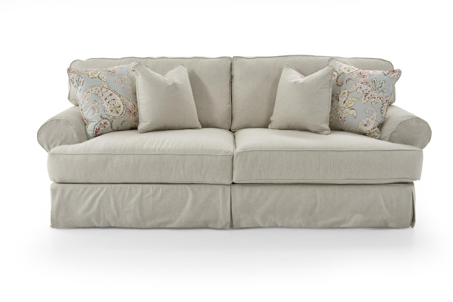 Addison  Traditional 2 Seat Sofa With Slipcover by Rowe at Baer's Furniture