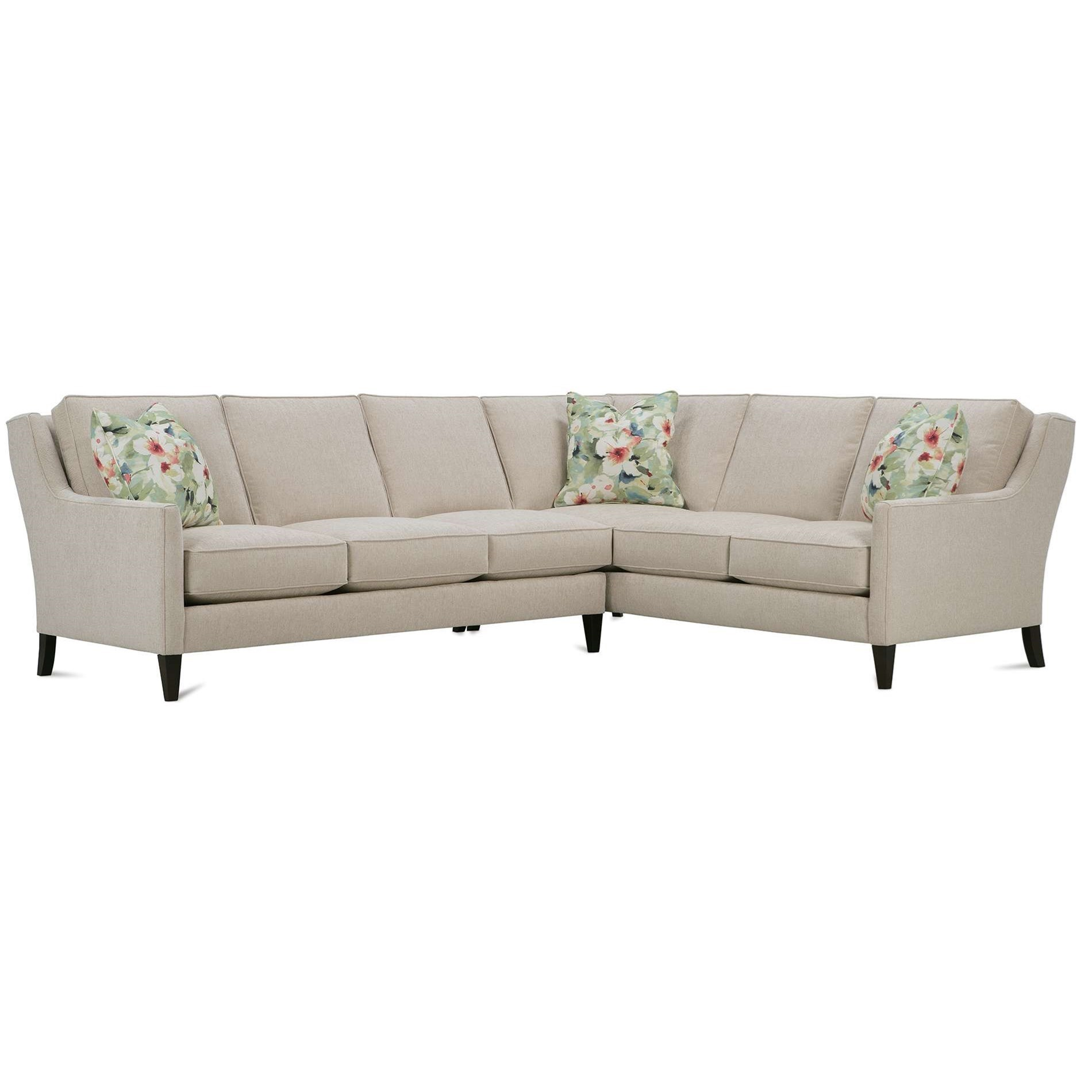 Andee 5 Seat Sectional by Rowe at Thornton Furniture