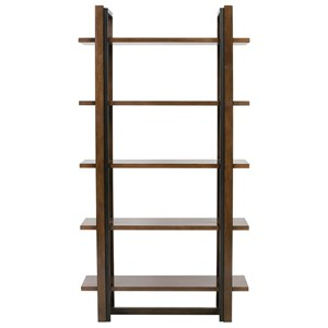Contemporary 5 Shelf Etagere with Metal Accents