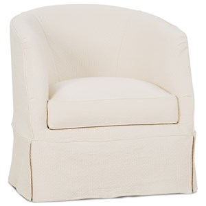 Traditional Swivel Chair with Slipcover