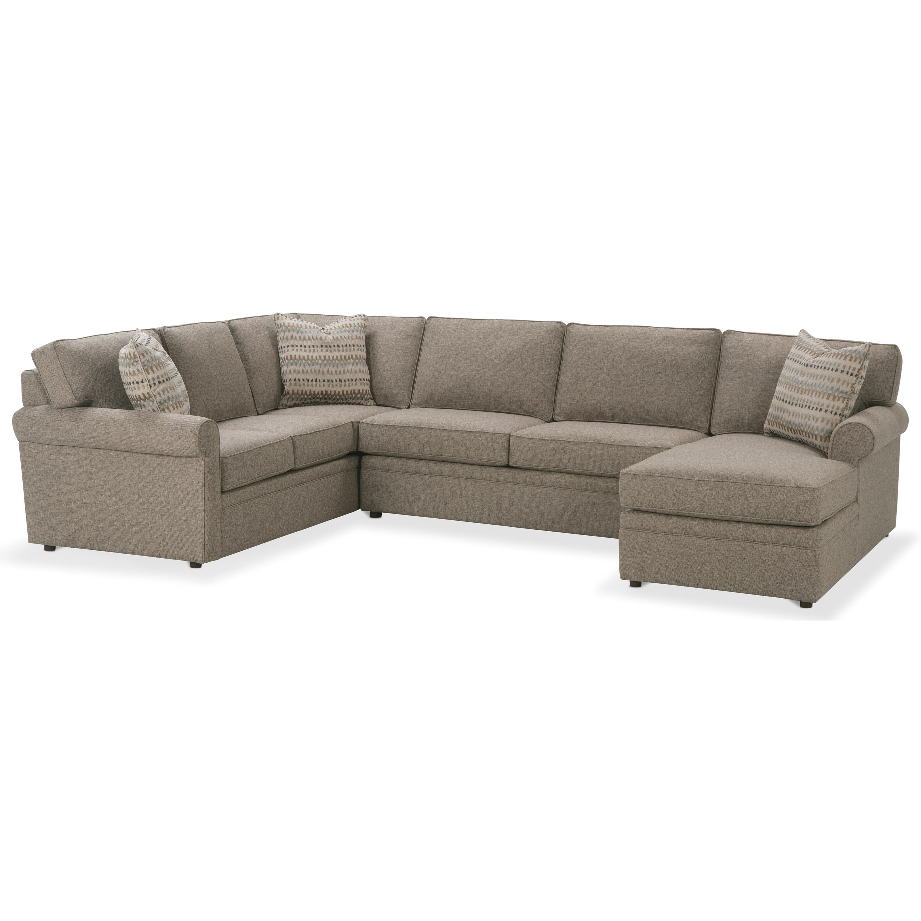 Brentwood Sectional Sofa by Rowe at Malouf Furniture Co.