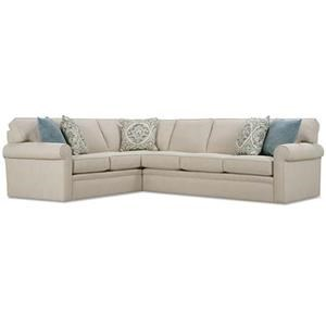 Rolled Arm Sectional Sofa