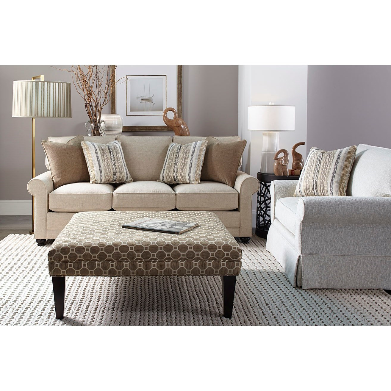 My Style I Transitional Stationary Sofa by Rowe at Baer's Furniture