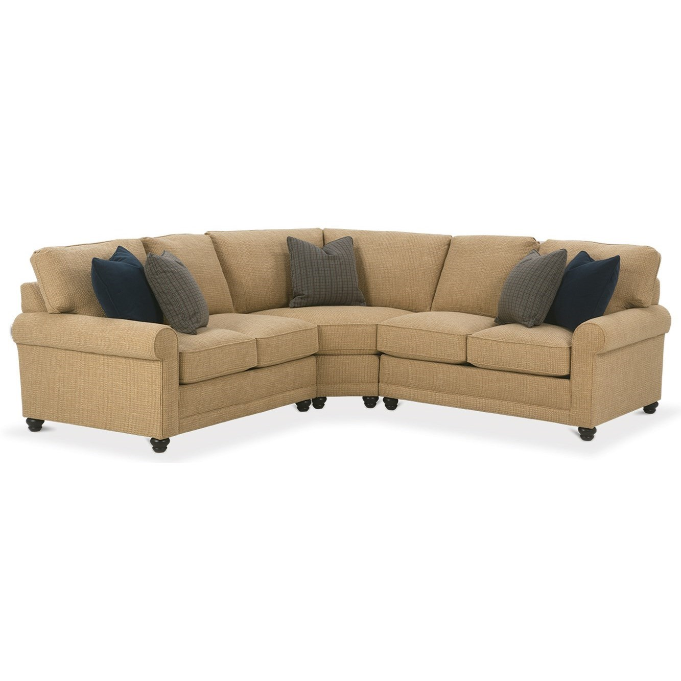 My Style I Customizable Sectional Sofa by Rowe at Baer's Furniture