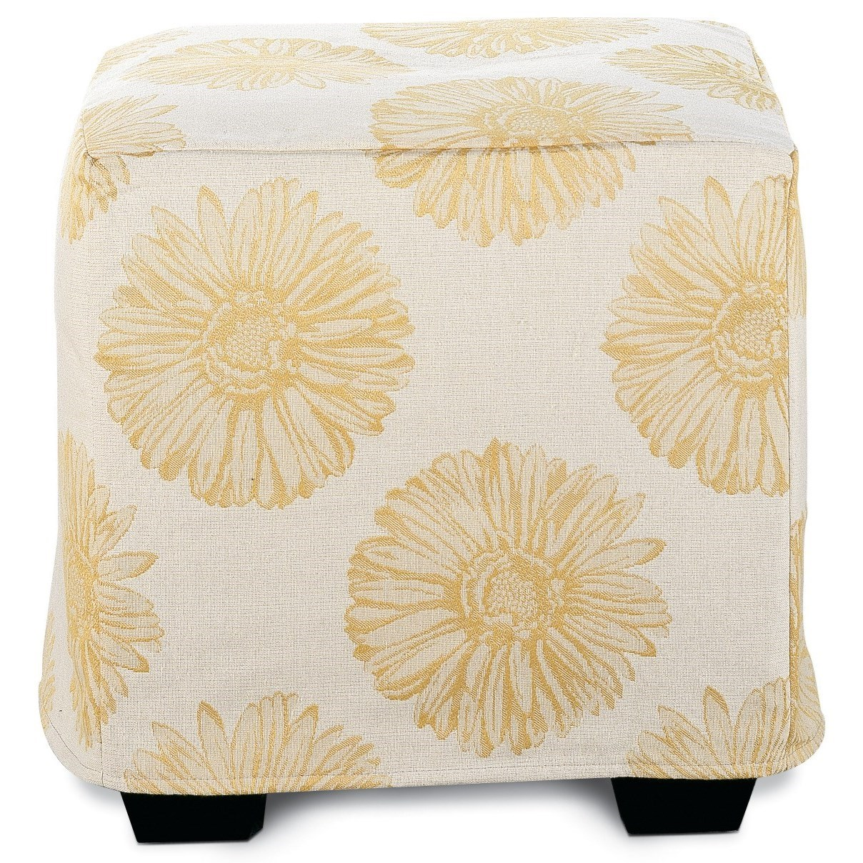 Chairs and Accents Le Parc Slipcover Ottoman by Rowe at Steger's Furniture