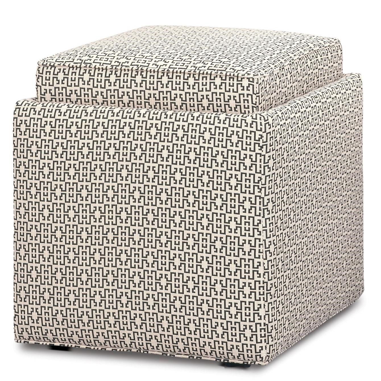 Chairs and Accents Nelson Storage Ottoman by Rowe at Saugerties Furniture Mart