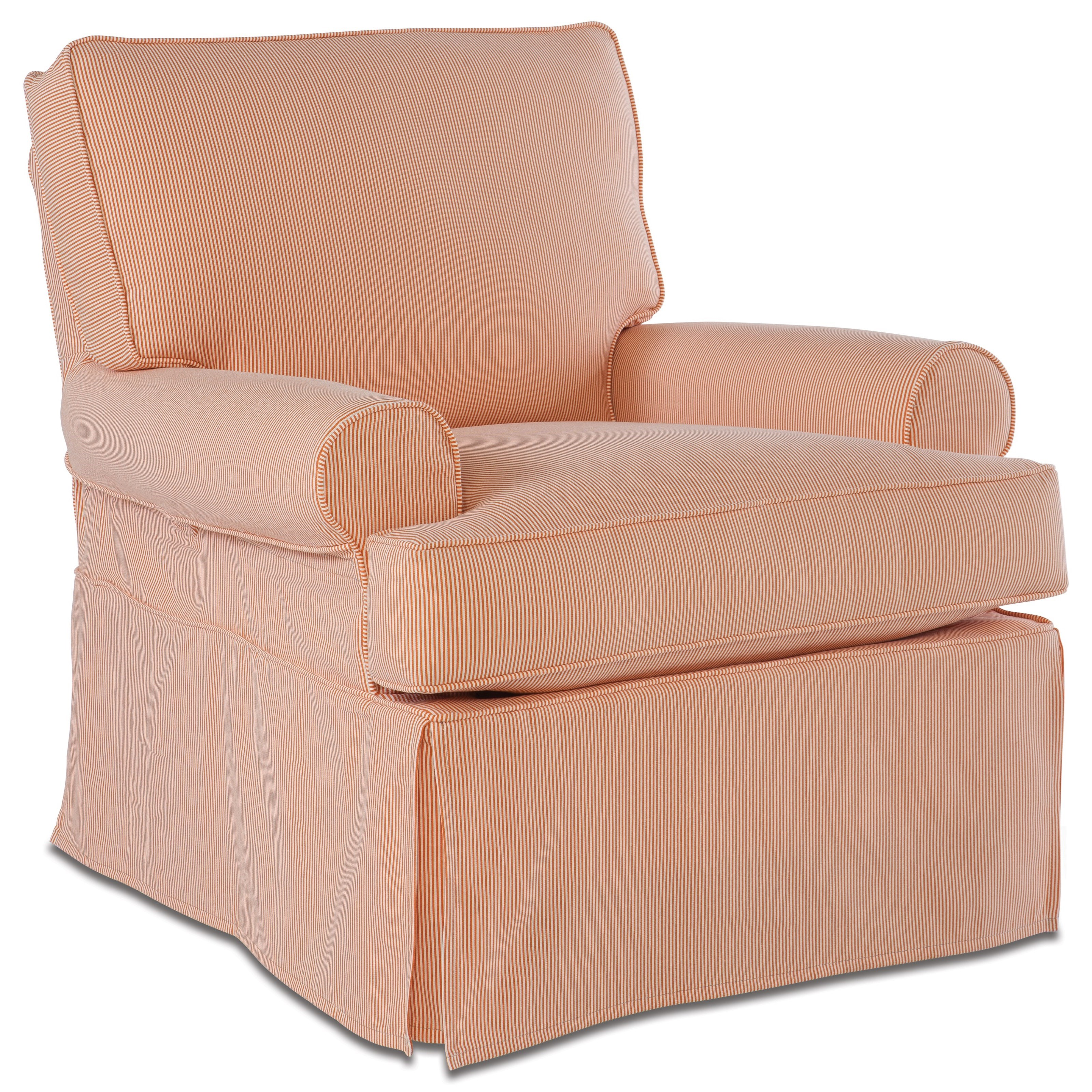 Chairs and Accents Sophie Large Swivel Glider with Slipcover by Rowe at Baer's Furniture