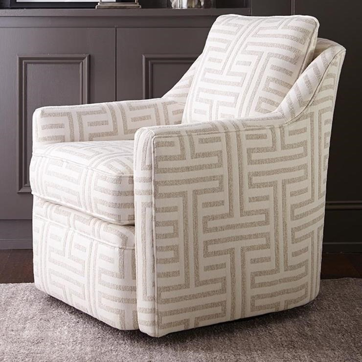 Hollins Swivel Chair by Rowe at Steger's Furniture