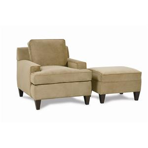 Rowe Chelsey Chair and Ottoman