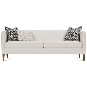 """86"""" Contemporary Sofa with Exposed Wood Legs"""