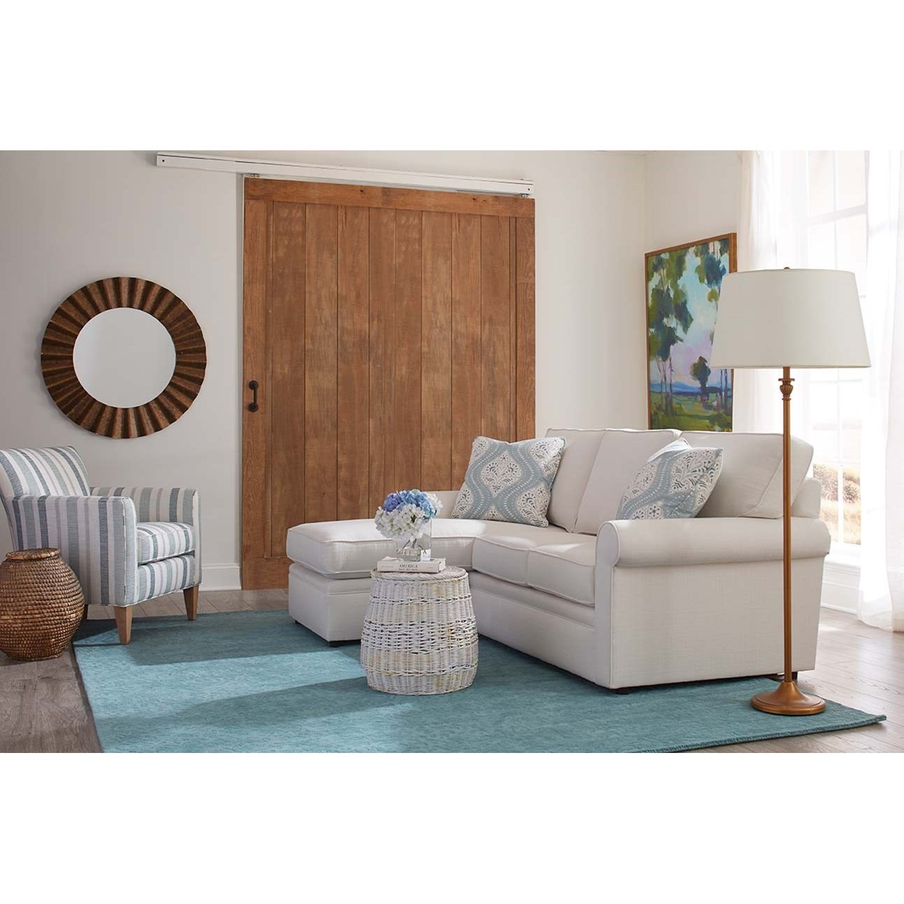 Dalton Sofa Chaise by Rowe at Bullard Furniture