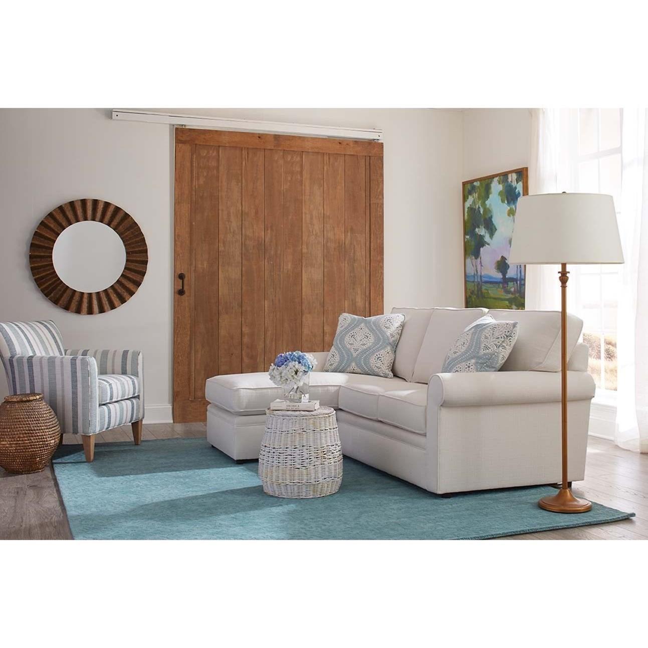 Dalton Sofa with Storage Chaise by Rowe at Bullard Furniture