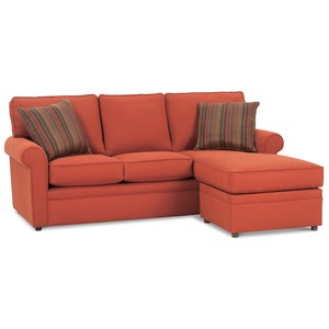 Sofa with Reversible Storage Chaise Ottoman
