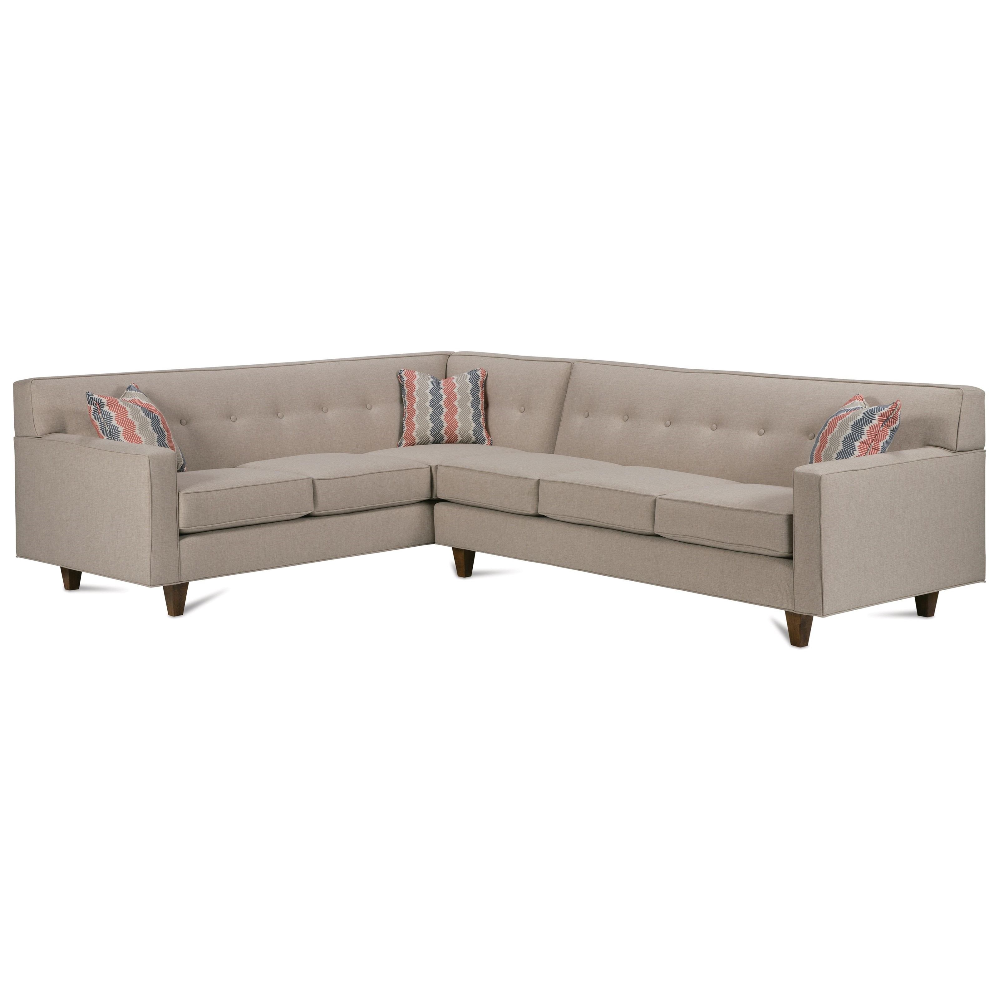 Dorset Corner Sectional with Tufted Back by Rowe at Thornton Furniture