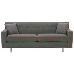 "Rowe Dorset 75"" 2-Cushion Sofa (chrome leg)"
